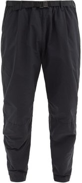 Rise Zip-cuff Garment-dyed Shell Track Pants - Mens - Black