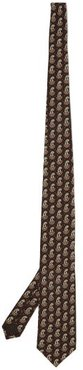 GG-logo Paisley-print Tie - Mens - Brown Multi