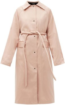 Original Belted Satin Trench Coat - Womens - Light Pink