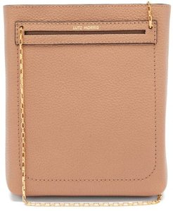 Peyton Small Grained-leather Shoulder Bag - Womens - Beige