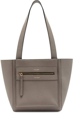 Savoy Small Leather Tote Bag - Womens - Grey
