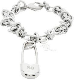 Safety-pin Knot-chain Bracelet - Womens - Silver
