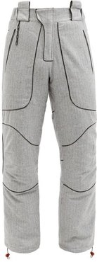 Pinstriped Wool-blend Hiking Trousers - Mens - Grey