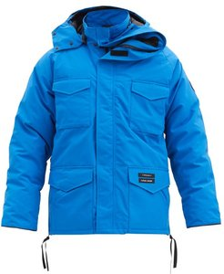 X Canada Goose Constable Hooded Down Parka - Mens - Blue