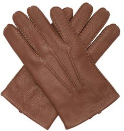 Cambridge Leather Gloves - Mens - Brown