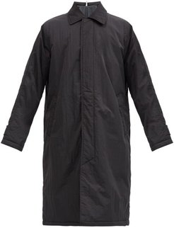 Point-collar Shell Raincoat - Mens - Black