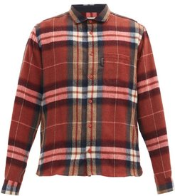 Curtis Check Wool-blend Flannel Shirt - Mens - Red