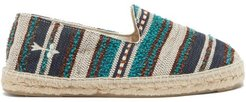 Marrakesh Striped Espadrilles - Mens - Blue Stripe