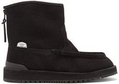 Russ Suede & Shearling Boots - Womens - Black
