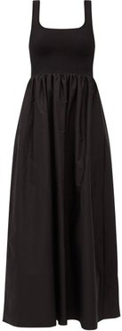 The Knit And Cotton Maxi Dress - Womens - Black