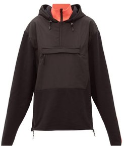 The Hut Fleece-panelled Hooded Sweatshirt - Womens - Black