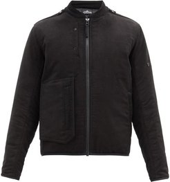 Padded Zip-up Bomber Jacket - Mens - Black