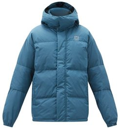 Dyngja Recycled-polyester Hooded Down Coat - Mens - Blue