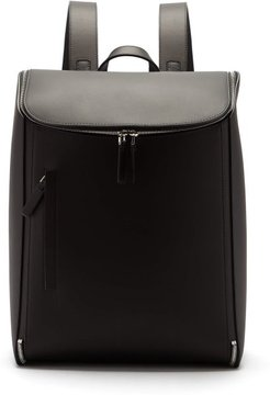 Zip-around Leather Backpack - Mens - Black