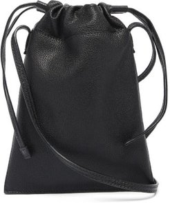 Flex Leather Micro Bag - Mens - Black