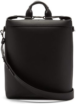 Zip-around Leather Holdall - Mens - Black