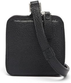 Grained-leather Cross-body Pouch - Mens - Black