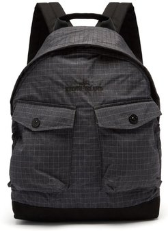 Logo-embroidered Reflective-ripstop Backpack - Mens - Black