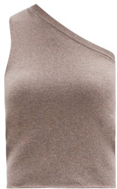 No.108 Asymmetric Stretch-cashmere Sweater - Womens - Mid Brown