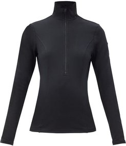 Serena Recycled-fibre Jersey Base-layer Top - Womens - Black