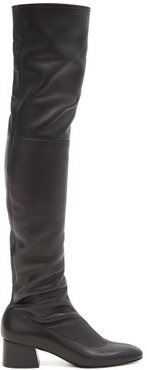 Sedona Leather Over-the-knee Boots - Womens - Black