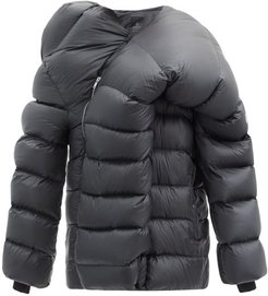 Hikoville Asymmetric Quilted Down Coat - Mens - Black