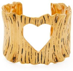 Cutout Heart Cuff - Womens - Gold
