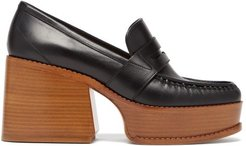 Augusta Leather Penny Loafers - Womens - Black