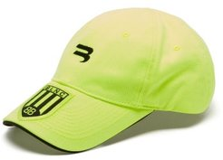 Football Logo-embroidered Cotton-twill Cap - Mens - Yellow