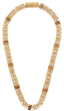 Crystal & 18kt Gold-plated Necklace - Womens - Gold