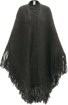 Lauren Fringed Cashmere Wrap - Womens - Khaki