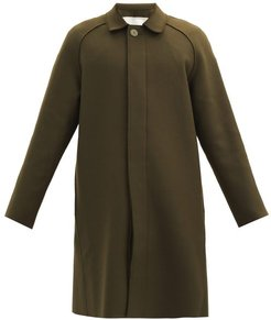 The Driver Single-breasted Wool-blend Coat - Mens - Green