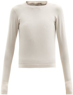 Ribbed-jersey Thermal Top - Womens - Cream