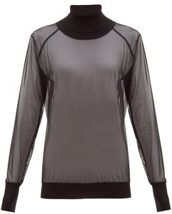 Tony Roll-neck Tulle Sweater - Womens - Black
