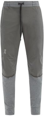 Ripstop And Stretch-jersey Track Pants - Mens - Grey