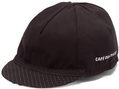 Logo-print Twill Cycling Cap - Mens - Black