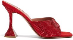 Lupita Crystal-embellished Mules - Womens - Red