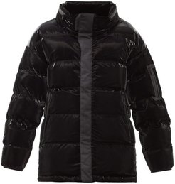 Gloss Quilted Down Jacket - Mens - Black