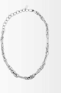 Mixed Chain-link 14kt White-gold Necklace - Womens - White Gold