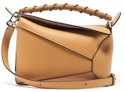 Puzzle Small Leather Cross-body Bag - Womens - Light Tan