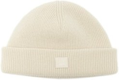 Face-patch Ribbed Wool Beanie - Mens - Beige