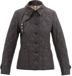 Diamond-quilted Jacket - Womens - Black