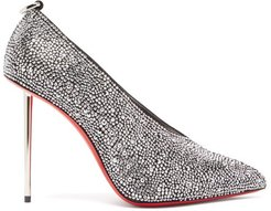 Et Pic Et 100 High-cut Crystal And Leather Pumps - Womens - Crystal