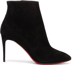Eloise 85 Suede Ankle Boots - Womens - Black
