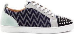 Louis Junior Spike-embellished Suede Trainers - Mens - Multi Stripe