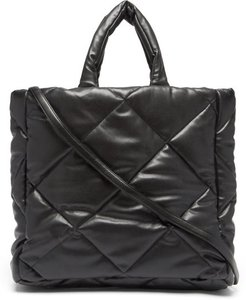 Assante Quilted Faux-leather Tote Bag - Womens - Black