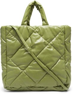 Assante Quilted Faux-leather Tote Bag - Womens - Khaki