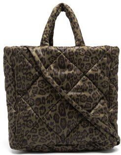 Assante Leopard-print Quilted Technical Tote Bag - Womens - Leopard