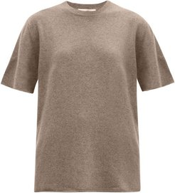 No. 64 Stretch-cashmere T-shirt - Womens - Mid Brown