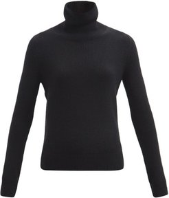 Roll-neck Cashmere Sweater - Womens - Black